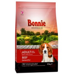 BONNIE ADULT DOG FOOD BEEF - 2.5 Kg