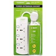 3 WAY UNIVERSAL EXTENSION SOCKET 13A PLUG TERMINATOR