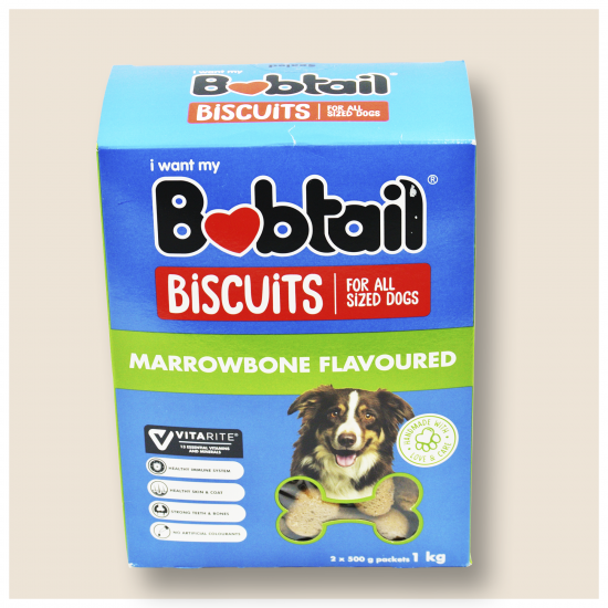 BOBTAIL BISCUITS FOR ALL SIZED DOGS MARROW BONE FLAVOURED