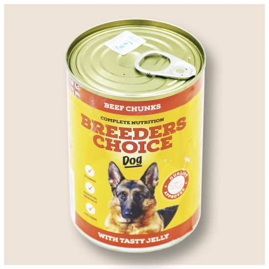 BREEDERS CHOICE DOG WITH TASTY JELLY BEEF CHUNK