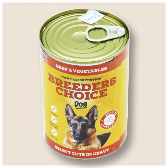 BREEDERS CHOICE DOG BEEF AND VEGETABLES