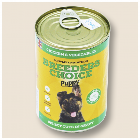 BREEDERS CHOICE PUPPY SELECT CUTS IN GRAVY CHICKEN AND VEGETABLE