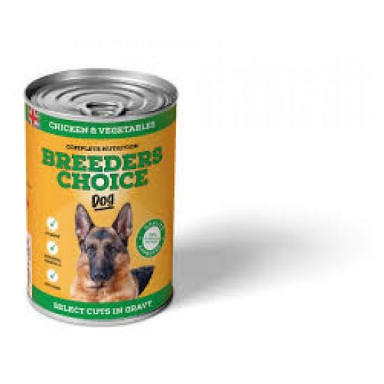 B/C DOG TIN CHICKEN&VEG GRAVY 400G