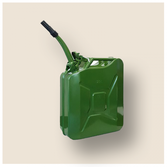 20L OLIVE GREEN METAL JERRY CAN PETROL