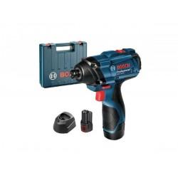BOSCH Impact Wrench-GDR 120-LI 12V, 2x 1.5Ah, Case, M4-M10, 100 Nm max