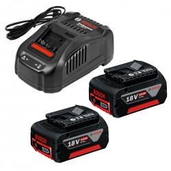 Charger & 2 Batteries-StarterKit 18V, 5.0 Ah 2x 5.0Ah + Charger