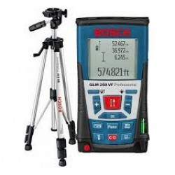 Laser measuring - GLM 250 + stand - m/cm/mm, range: 0.05-250m, accuracy: ±1mm, BT 150 (stand)