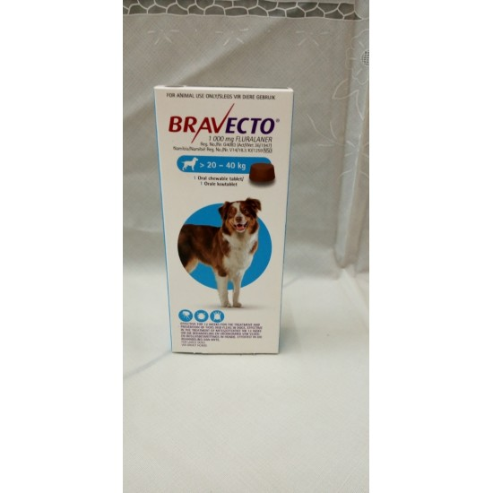BRAVECTO 20-40KGS FOR LARGE DOGS