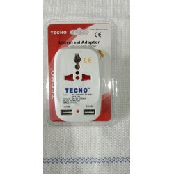 TECNO UNIVERSAL ADAPTOR WITH 2 USB