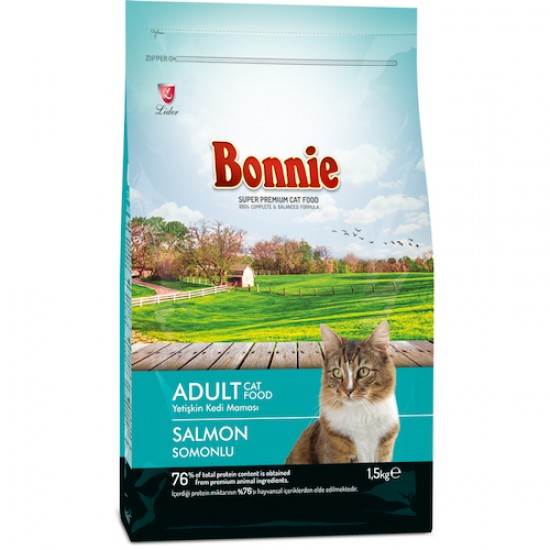 BONNIE ADULT CAT FOOD SALMON - 1.5 Kg