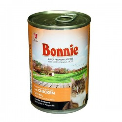 BONNIE CANNED CAT FOOD WITH CHICKEN - CHUNKS IN GRAVY - 400 Gr