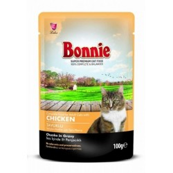 BONNIE POUCH FOR CAT WITH CHICKEN CHUNKS IN GRAVY - 100 Gr