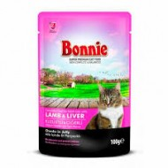BONNIE POUCH FOR CAT WITH LAMB/LIVER CHUNKS IN GRAVY - 100 Gr