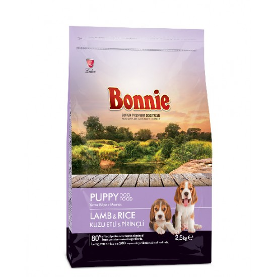 BONNIE PUPPY FOOD LAMB AND RICE - 2.5 Kg