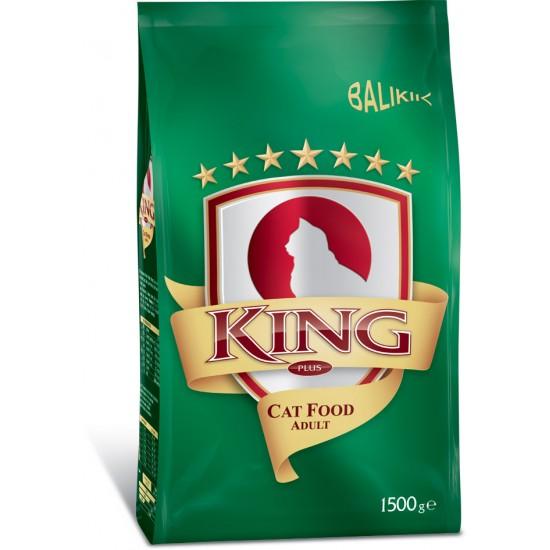 KING PLUS ADULT CAT FOOD FISH - 1.5 Kg
