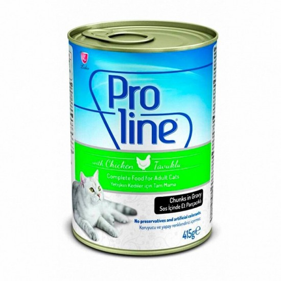 PROLINE CANNED CAT FOOD WITH CHICKEN - 415 Gr